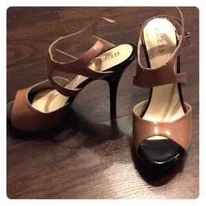 Nude and black Guess heels size 7.5